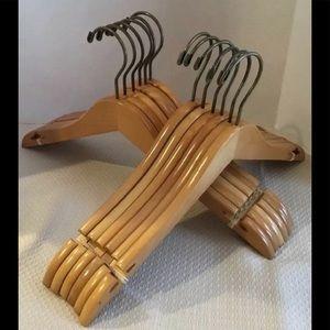 Set of 12 BeverlyHangers Wood Hangers